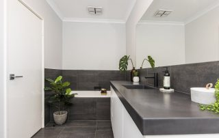 Nature bathroom benchtops