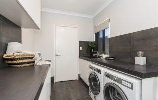 Laundry area concrete benchtops