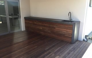 concrete benchtops on woods perth