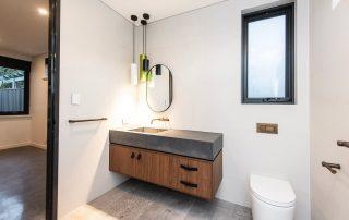 Perth bathroom concrete benchtops