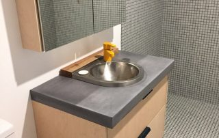 concrete benchtops bathroom perth