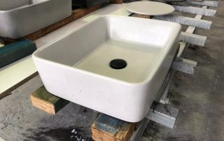 concrete sink benchtops