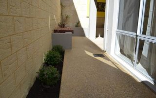 honed concrete for house