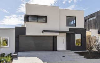 honed concrete for classy house