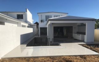 Fancy honed concrete for classy house