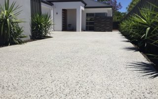 Perth white honed concrete for white house