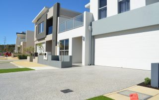 Fancy honed concrete in Perth