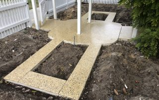 Honed concrete installation in Perth