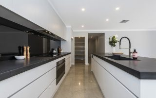Kitchen polished concrete floor